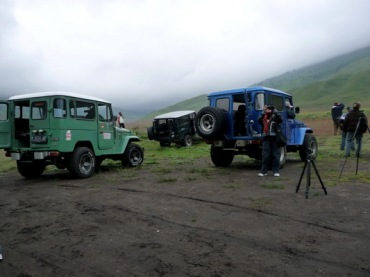 Hardtops ( Toyotas) at the Caldera - Mt.Bromo