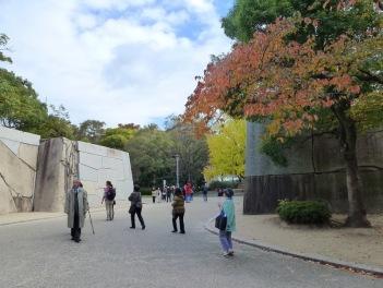 Salah satu gerbang menuju komplek Osaka Castle