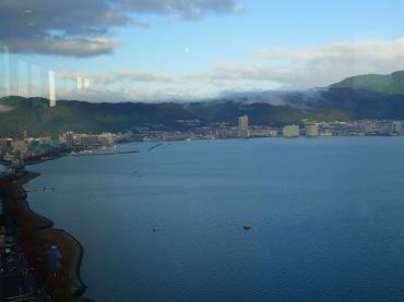 Pemandangan kearah Danau Biwa dari kamar No. 1604