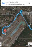 Google maps menggiring pengendara melambung agak jauh untuk mencapai parkir mobil.